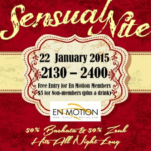 Sensual Night (Zouk & Bachata) @ Enmotion @ EN MOTION DANCE SCHOOL | Singapore | Singapore