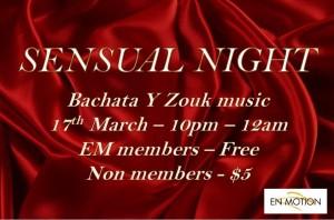 Sensual Night (Bachata & Zouk) @ Enmotion  Craig Rd, Level 1 Singapore 089668 | Singapore | Singapore