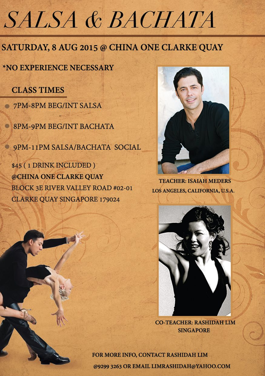 Salsa and Bachata Workshop with ISAIAH MEDERS & Rashida