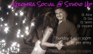 Weekely Kizomba Social @ Studio Up @ Studio UP | Singapore | Singapore