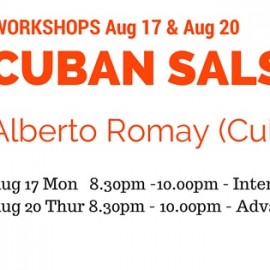 WORKSHOP – CUBAN SALSA by Alberto Romay