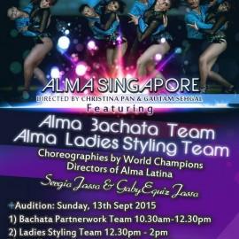ALMA SINGAPORE Audition/Recruitment 2015