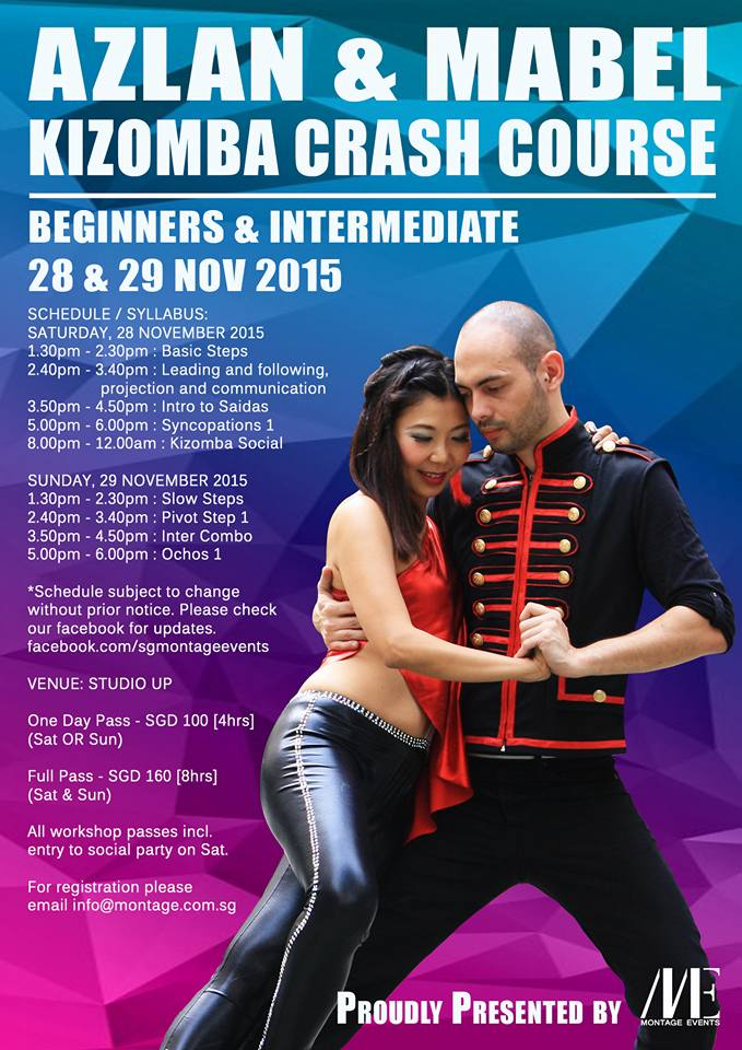 Kizomba Crash Course by Azlan & Mabel  organised by Montage Events