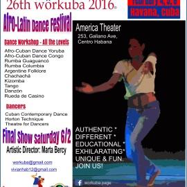 26th Workuba, Habana 2016  (International Modern & Afro-Latin Dance Festival)