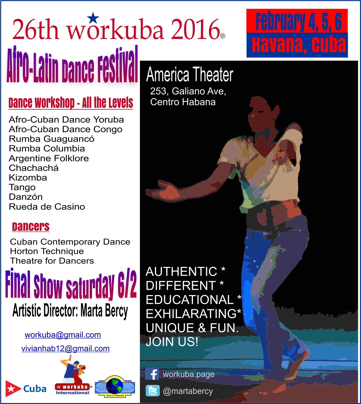 26th Workuba, Habana 2016  (International Modern & Afro-Latin Dance Festival)