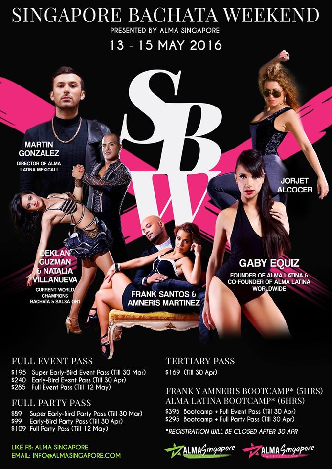 SINGAPORE BACHATA WEEKEND SBW 2016