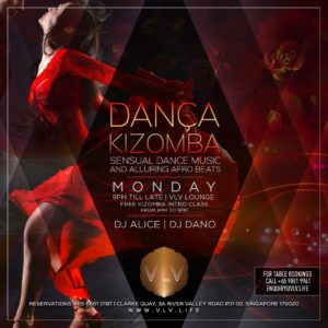 Dança Kizomba Monday @ Clarke Quay, 3A River Valley Road, #01-02 Singapore 179020 | Singapore | 0